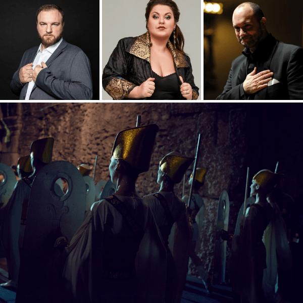 Simone Piazzola, Olesya Petrova and Damiano Salerno will perform in Aida